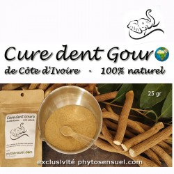 Poudre 100% Cure dent Gouro...